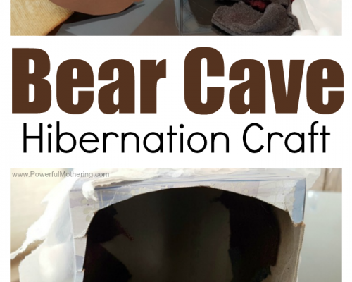 Bear Cave Hibernation Craft and Activity for Preschoolers