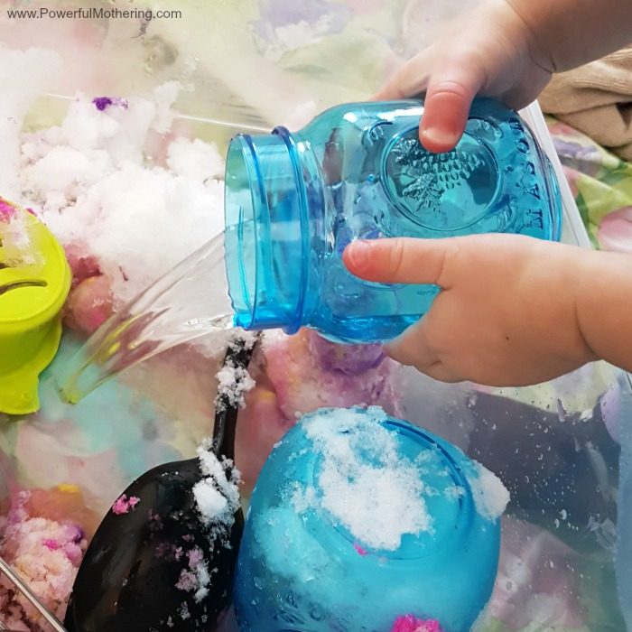 Bring Real Snow Inside For Snowy Sensory Play