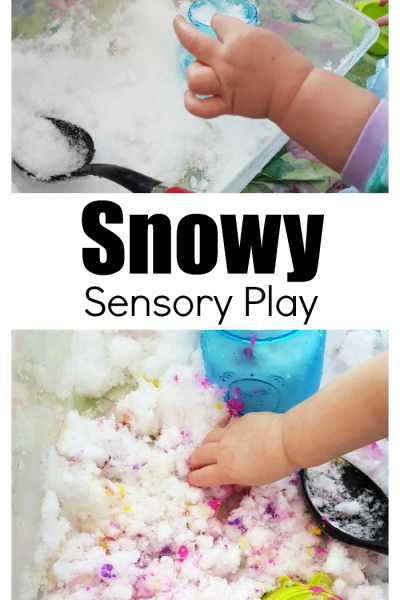 Bring The Snow Inside For Fun Snowy Sensory Play