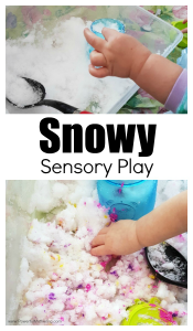Bring the Snow Inside for A Snowy Sensory Play Experience