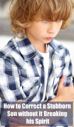 How to Correct a Stubborn Son without it Breaking his Spirit