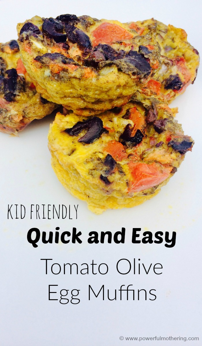 Kid Friendly Quick And Easy Tomato Olive Egg Muffins