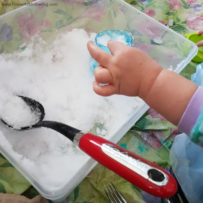 Snowy Sensory Play Inside