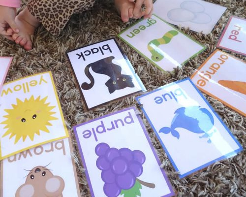 Free Printable Color Cards for Toddlers