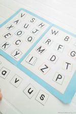 Alphabet Upper and Lowercase Recognition Printable