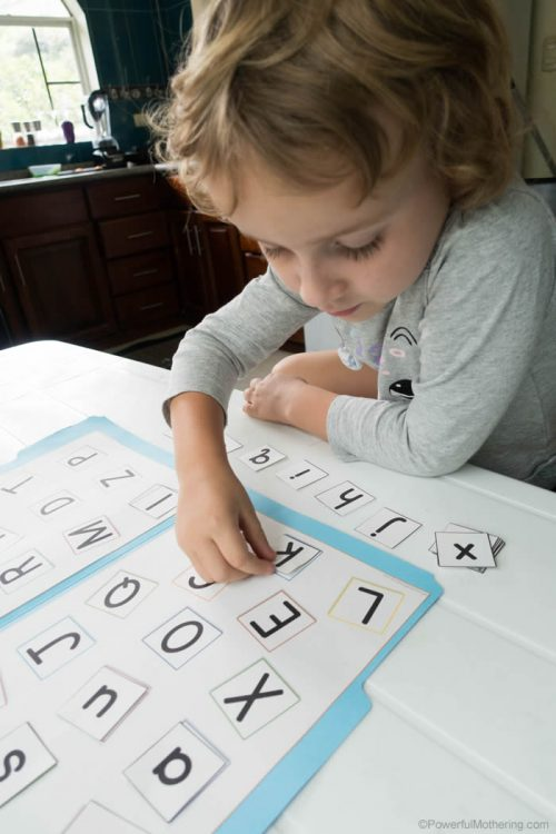 Preschool Alphabet Matching Printable