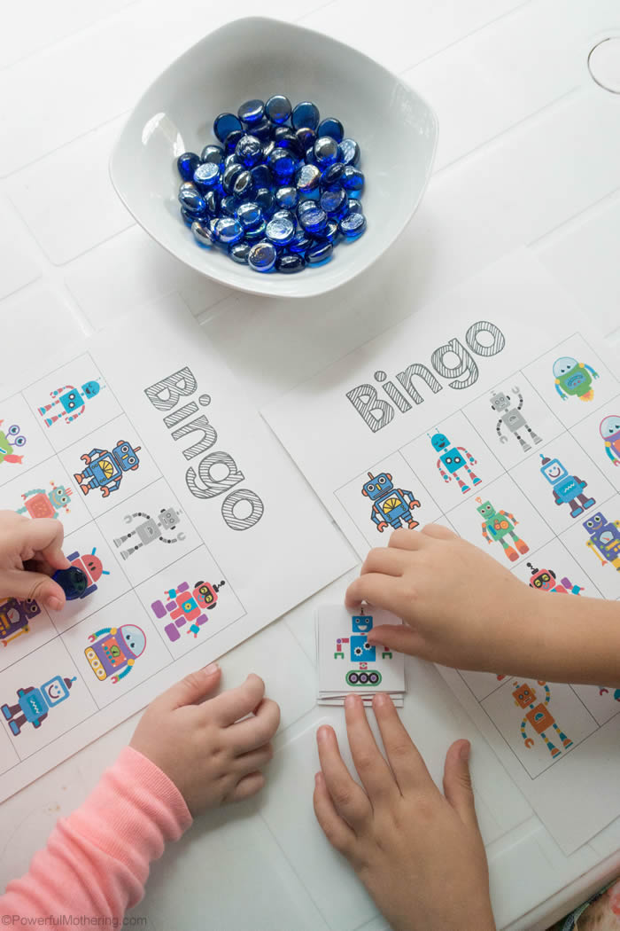 Robot Bingo Game For Kids