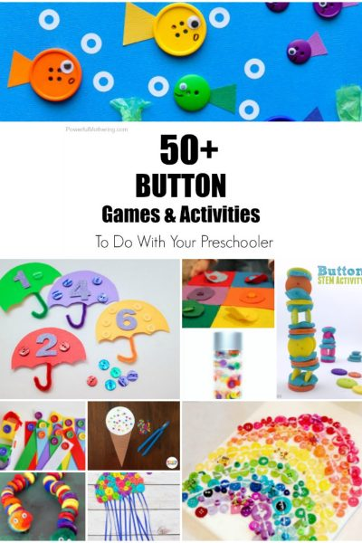 50+ Button Games and Activities to do with your Preschooler