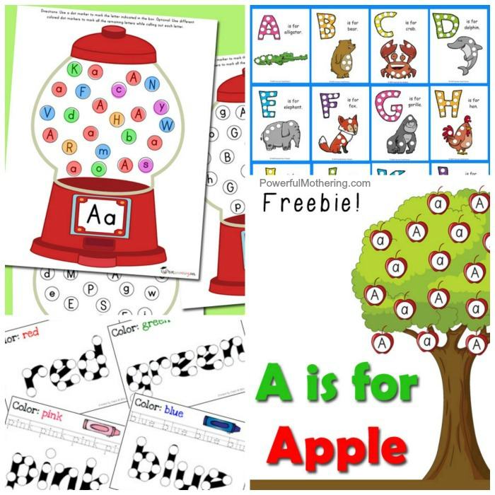 Free Do A Dot Printables For Kids Learning The Alphabet