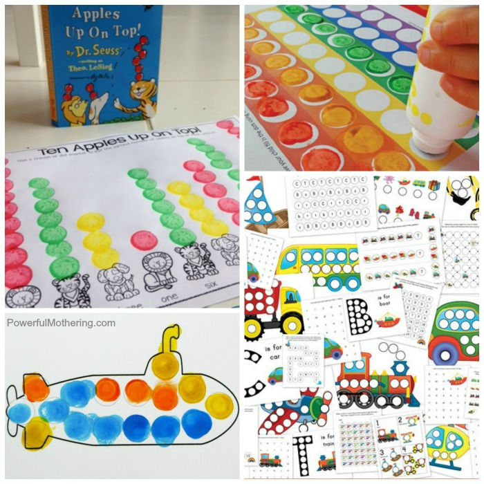 Free Thematic Do A Dot Printables For Kids