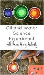 Oil and Water Science Experiment with Read Along Activity