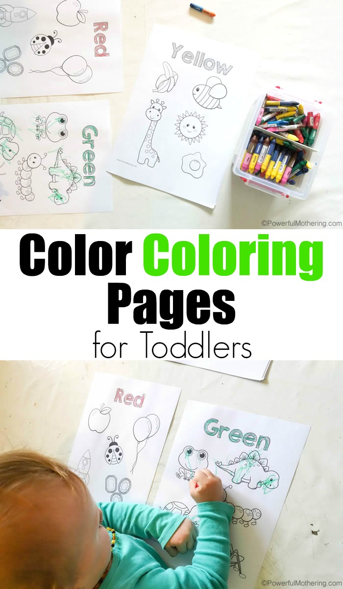 Easy Color Coloring Pages For Toddlers