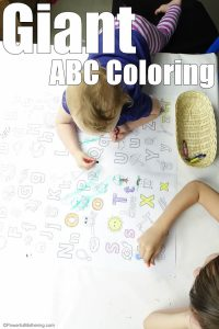 Giant ABC Coloring Page