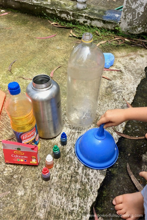 Oil And Water Experiment Materials