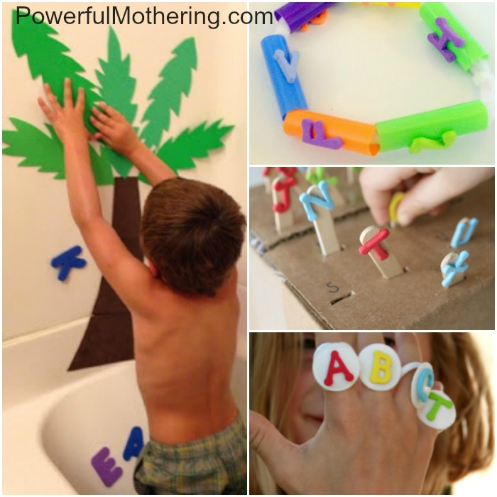 20+ fun foam letter play ideas