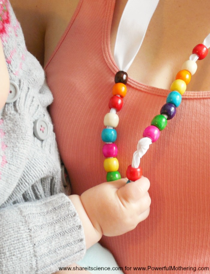 Give Baby Something To Hold Onto With This Simple DIY Nursing Necklace