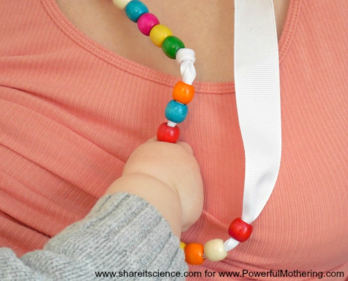 Keep Baby's Hands Occupied With A DIY Nursing Necklace