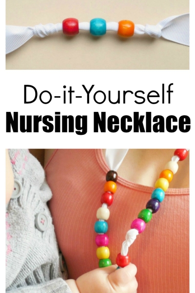 Make A DIY Nursing Necklace To Keep Baby's Hands Occupied While Being Held Or Nursing