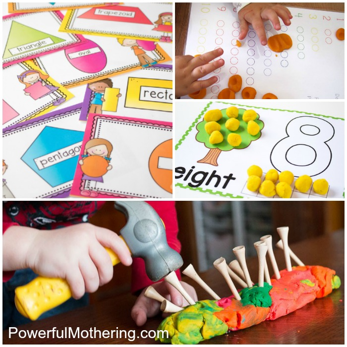 Playdough Activities For Playing And Learning
