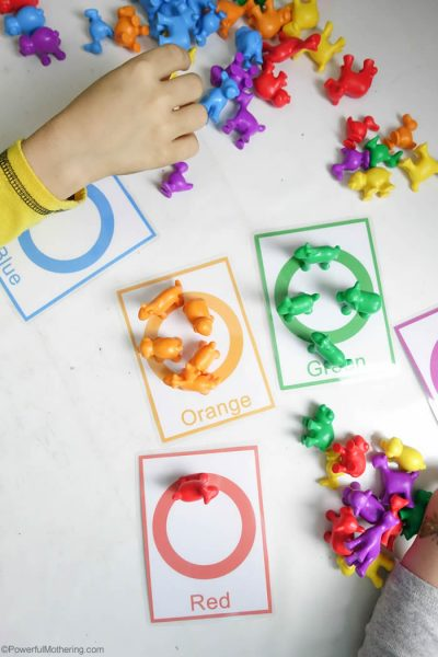 Counting and Color Sorting Activity for Toddlers