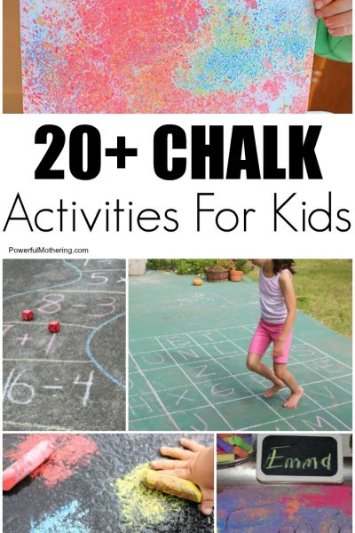 20+ Chalk Art Ideas And Learning Activities