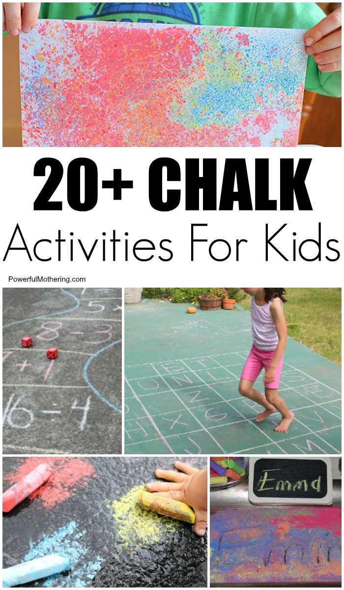 20 Chalk Art Ideas And Learning Activities For Kids