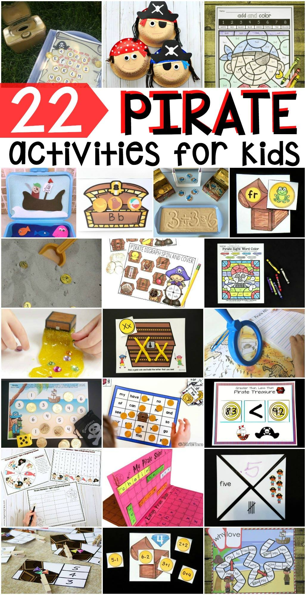 22 Ideas For Pirate Activities