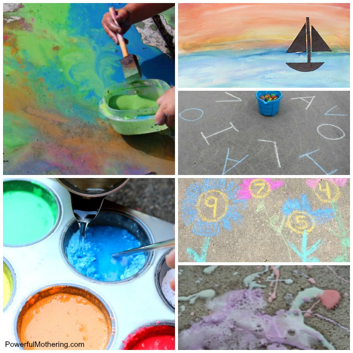 20+ Chalk Art Ideas and Learning Activities for Kids
