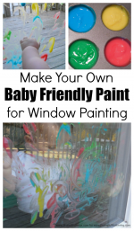 Window Painting with Homemade Baby Friendly Paint