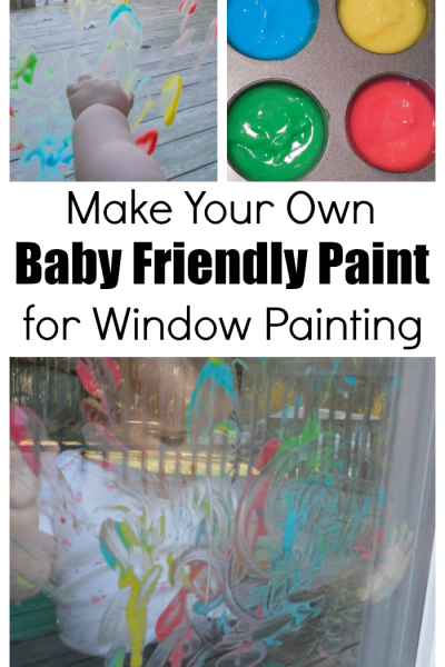 Window Paint With DIY Baby Friendly Paint