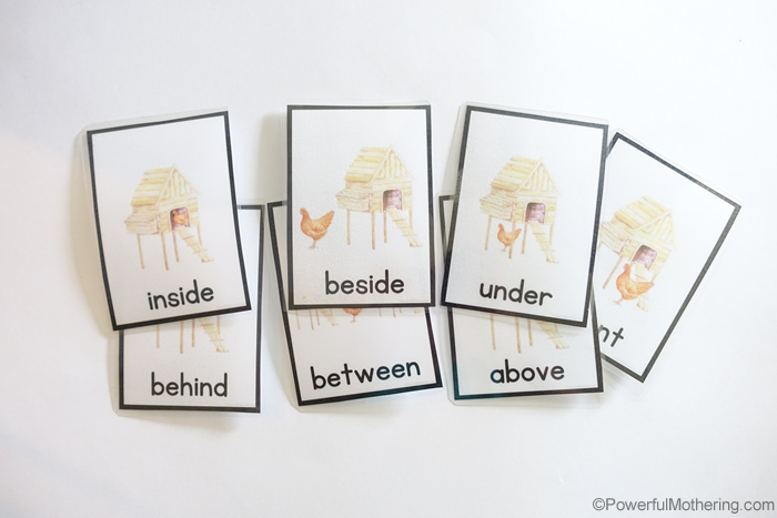 Teaching Prepositions Cards