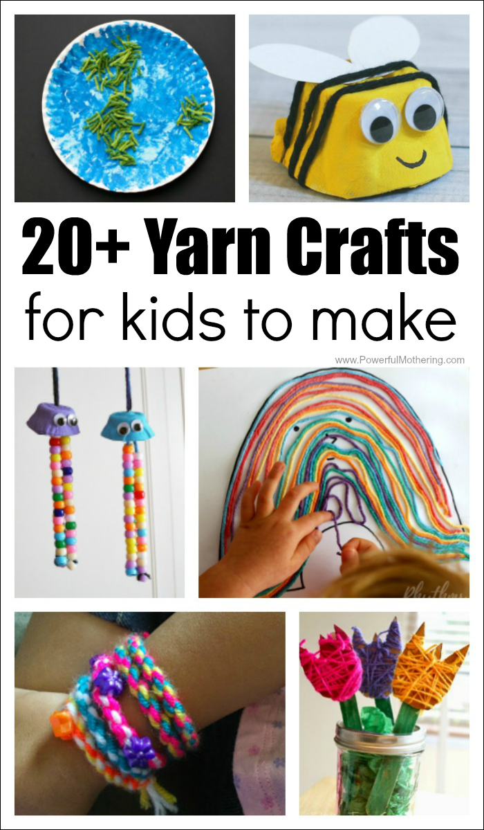 20 Absolutely Fantastic Easy Yarn Crafts For Kids To Make