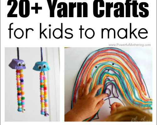 20+ Absolutely Fantastic Yarn Crafts for Kids to Make