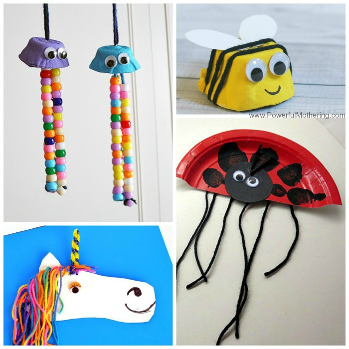 Animal Yarn Crafts For Kids