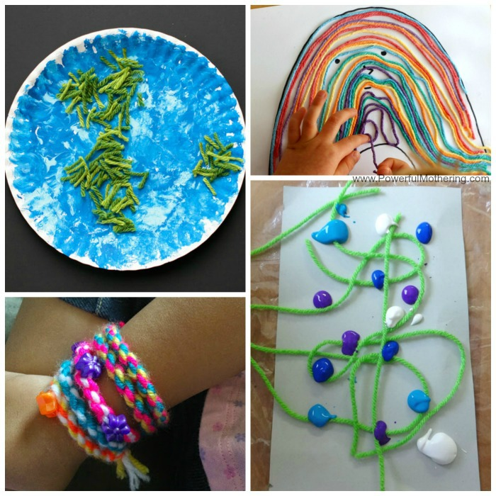 More Easy Yarn Crafts For Kids