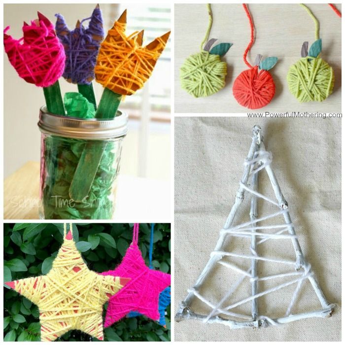 Easy Yarn Crafts For Kids To Make By Wrapping Yarn