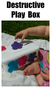 DIY Destructive Play Box to Engage Babies and Toddlers