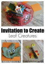 Invitation to Create Leaf Creatures Fall Craft