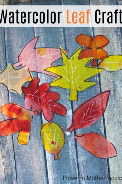 Watercolor Fall Leaf Craft