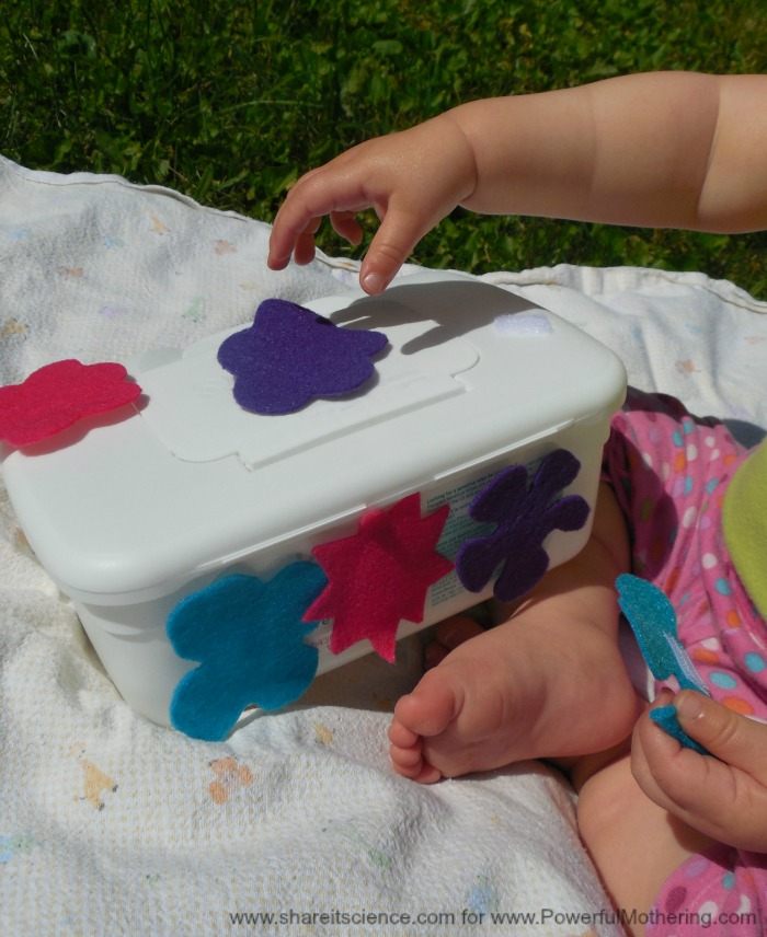 Playing With A Homemade Destructive Play Box