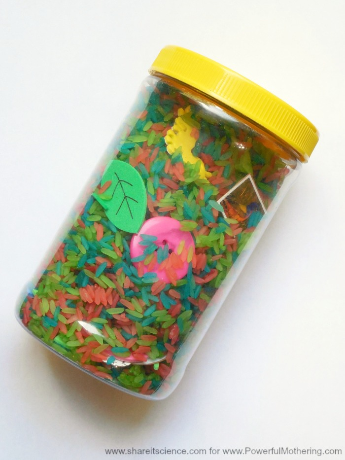 Rainbow Search And Find Sensory Jar For Toddlers