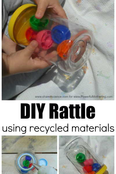 Super Easy DIY Rattle for Baby Using Recycled Materials