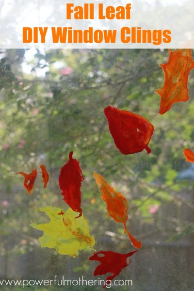 Fall Leaf DIY Window Clings