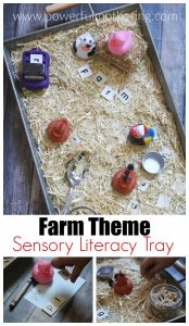 Farm Theme Literacy Sensory Tray
