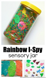 Toddlers Will Love This Rainbow Search and Find Sensory Jar