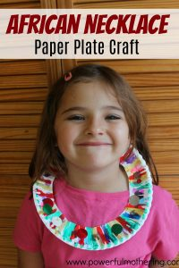 African Necklace Paper Plate Craft