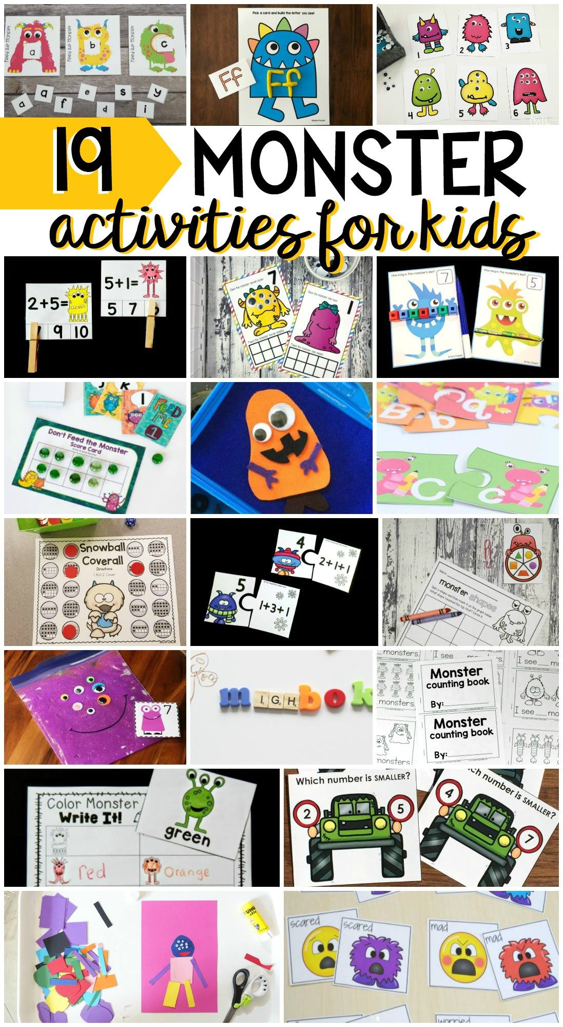 19 Monster Activities For Kids