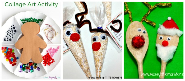 25 easy to make preschool christmas crafts for Easy crafts for 3 year olds