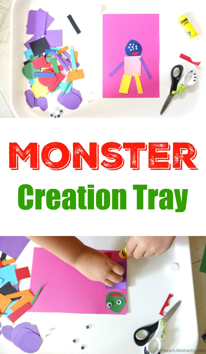 Monster Creation Tray For Kids