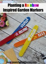 Planting a Rainbow Inspired Garden Markers